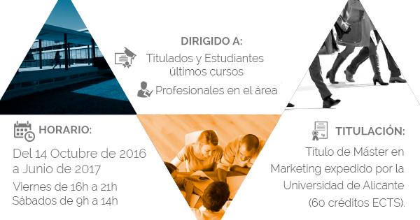 El Máster de Marketing de la Universidad de Alicante arranca su 2ª edición el 14 de octubre de 2016